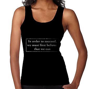 Aby osiągnąć sukces musimy najpierw wierzyć kamizelka damska cytat Nikos Kazantzakis