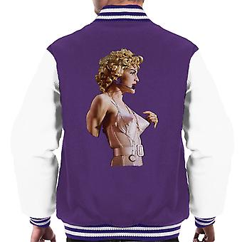 Madonna In Pink Cone Bra Corset Blonde Ambition Tour 1990 Men's Varsity Jacket