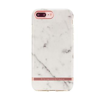 Richmond & Finch shells voor IPhone 6/7/8 plus-wit marmer-Rose