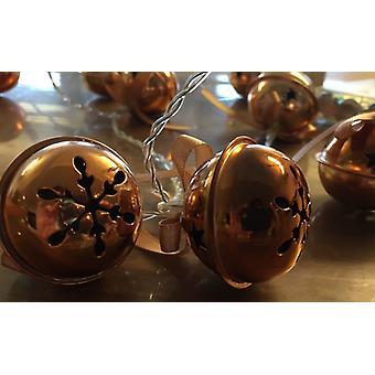 LED Loop Bells Gold 10 luzes Timer