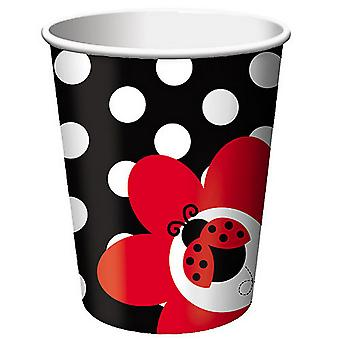Creative Converting 9oz Ladybird Party Cups (Pack Of 8)