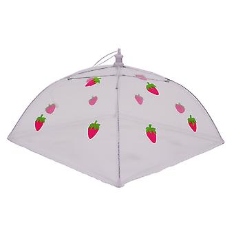 Epicurean Large Square 48cm Food Cover, Strawberry