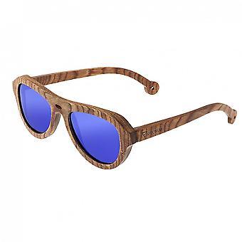 Spectrum Marzo Wood Polarized Sunglasses - Brown/Blue