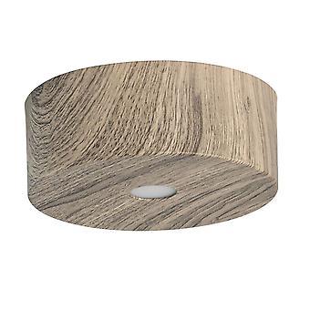 Glasberg - diodo emissor de luz de teto semi-nivela 6cm madeira café 712010101