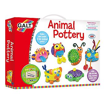 Galt Toys Animal Pottery Set With Clay and Paints
