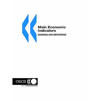 Belangrijkste economische indicatoren bronnen en definities 2000 Edition door OESO Publishing