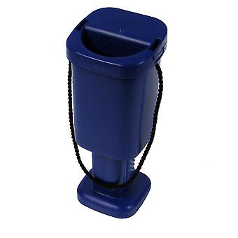 5 Square Charity Money Collection Boxes - Blue