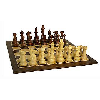 Jumbo Staunton Chess Set With Ebony Veneer Board