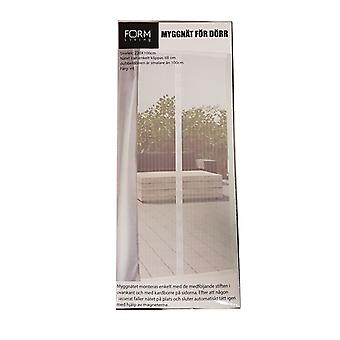Mosquito net door 100x220 insect protection white magnet mosquito net