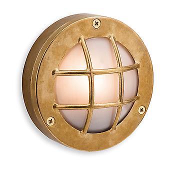 Firstlight-1 ljus utomhus vägg, flush ljus mässing, frostat glas IP64-5925BR