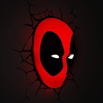 Marvel Deadpool Mask 3D Wall Light