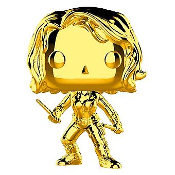 Marvel Studios 10. Jahrestag Black Widow Gold Chrome Pop!