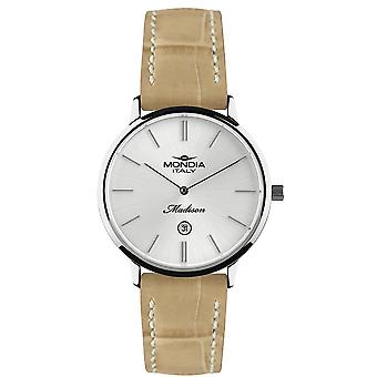 Mondia madison classic lady Japanese Quartz Analog Woman Watch with Mi722-1CP Cowskin Bracelet