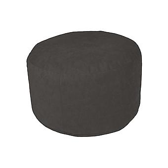 Pouf Hocker Sitzhocker rund Microvelour anthrazit 34 x 50 x 50 cm