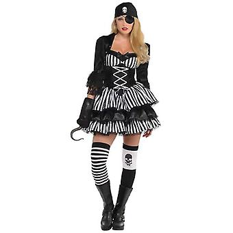 Amscan Adult Dark Pirate Costume (Babies and Children , Costumes)