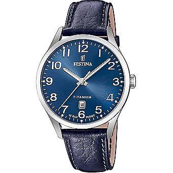 פסטינה-שעון יד-גברים-F20467/2-מטיטניום אנלוגי