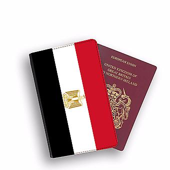 EGYPT Flag Passport Holder Style Case Cover Protective Wallet Flags design