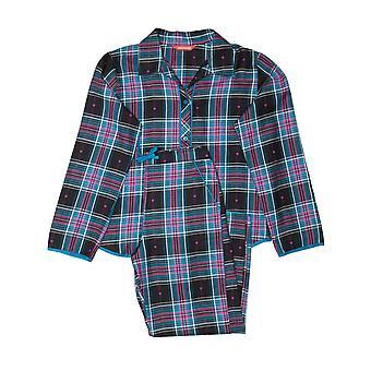 Minijammies 5511 Girl's Ezme Black Mix Check Cotton Pyjama Set