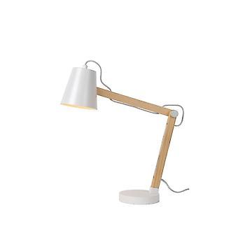 Скандинавского металла белого яйца lucide Тони и свет древесины настольную лампу