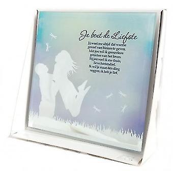 Silber Silhouette Spiegel sie sind die süßesten