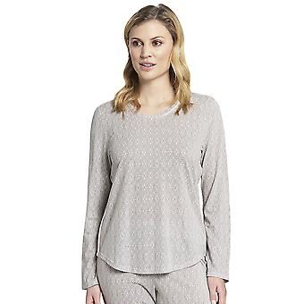Rösch 1193704-16416 Dame's Ren Av Hvit Orientalsk Stil Bomull Pyjamas Topp