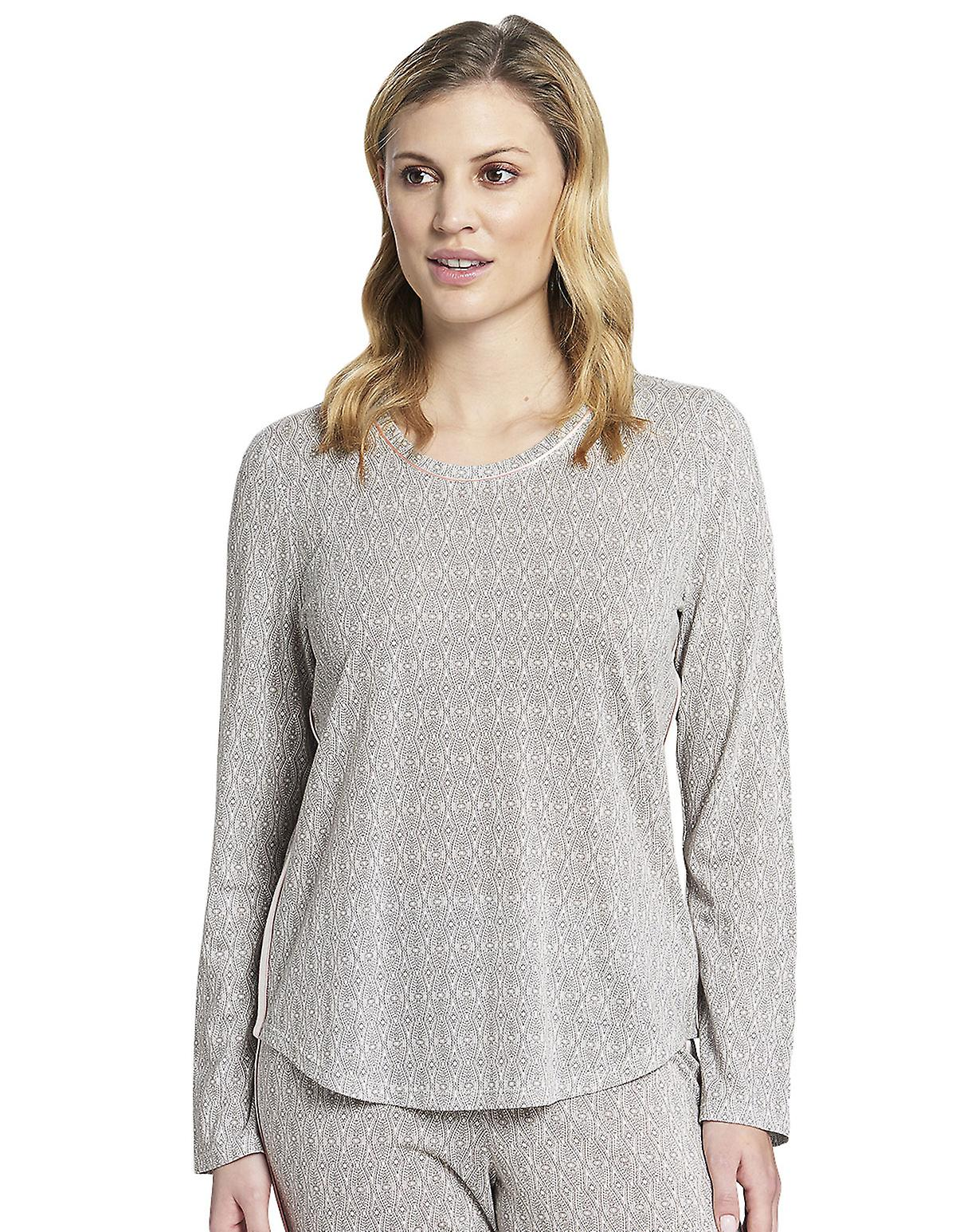 Rosch 1193704-16416 Women's Pure Off-White Oriental Flair Cotton Pyjama Top