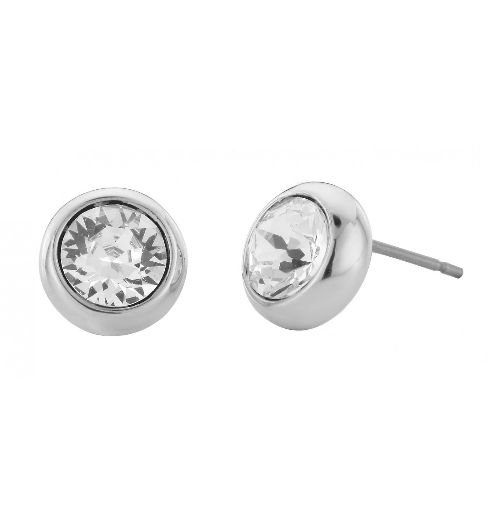 Traveller pierced earring - rhodium plated - 145042