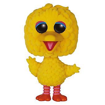 """Sesame Street Big Bird 6"""" Flocked US Exclusive Pop! Vinyl"""