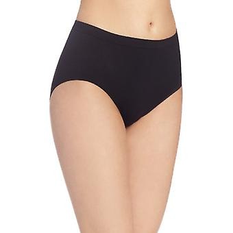Bali Women's Comfort Revolution Seamless Brief Panty, Black, 8/9