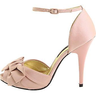 Nina Womens Electra Fabric Peep Toe Ankle Strap Classic Pumps
