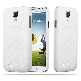 Samsung Galaxy S4 Hardcase Case in WHITE door Cadorabo - Floral Paisley Henna Design Protective Case - Phone Case Bumper Back Case Cover