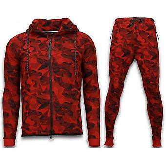 Windrunner Camo Tracksuits - Costume de jogging camouflage - Rouge