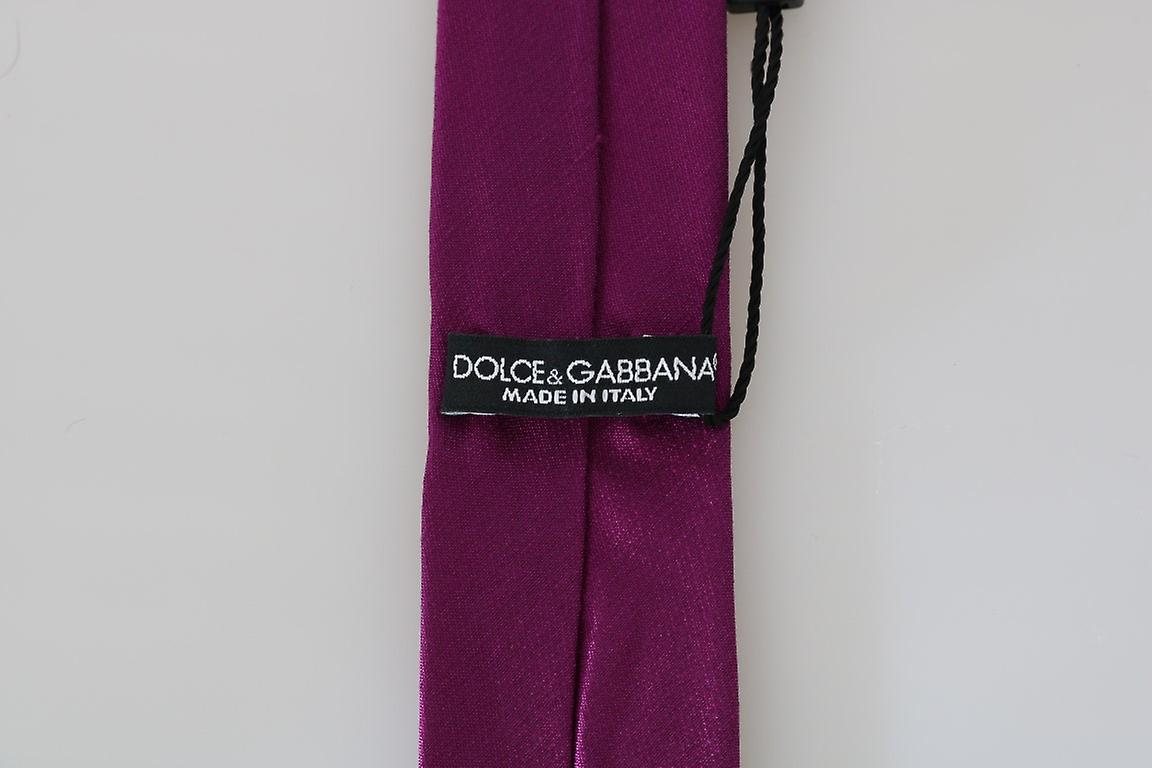 Purple Silk Solid Slim Tie