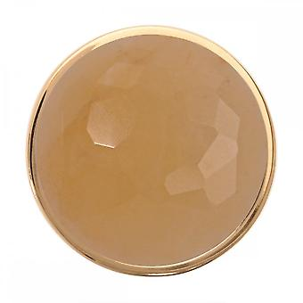 Nikki Lissoni Faceted Yellow Jade Medium Gold Plated Coin C1223GM
