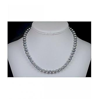 Luna-Pearls Akoya Pearl Necklace Silver-Grey HKS110