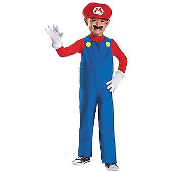 Mario Deluxe Nintendo Super Mario Bros Jeu vidéo Plumber Toddler Boys Costume