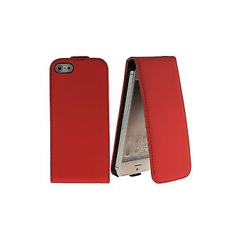 Red Cover Vertical Opening For IPhone 5