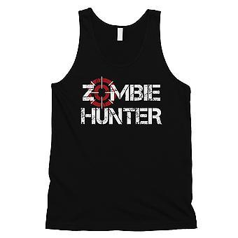 Zombie Hunter Mens musta hullu täydellinen viileä hauskaa mukava säiliö alkuun lahja