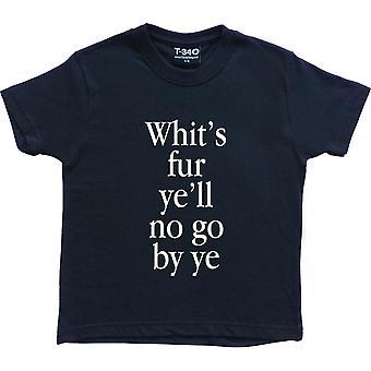 Whits Pelz Ye Navy blau Kinder ' T-Shirt