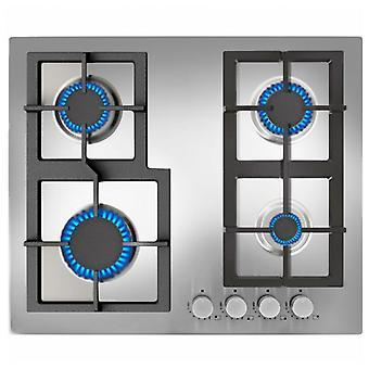 Kaasu liesi Teka 60 cm Inox 60 cm Inox Automaattinen sytytys (4 uunit)