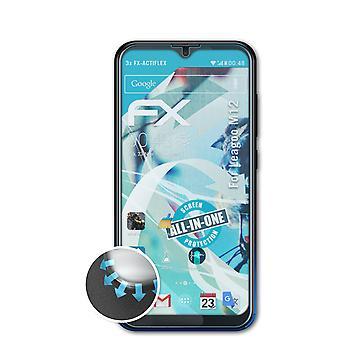 atFoliX 3x Proteggi Schermo compatibile con Leagoo M12 Pellicola Protettiva chiaro&flessibile