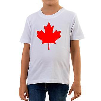 Reality glitch canada flag kids t-shirt