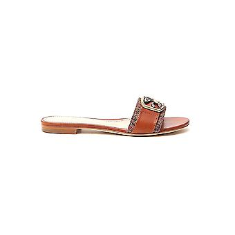 Etro 1366436450150 Mulheres's Brown Leather Sandals