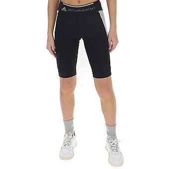 Adidas By Stella Mccartney Fk9714 Damen's Schwarze Polyester Shorts