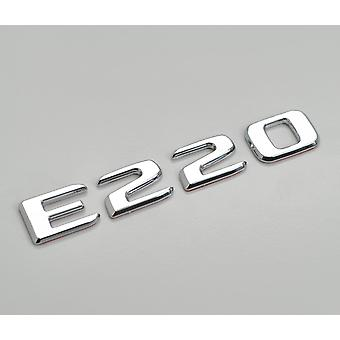 Silver Chrome E220 Flat Mercedes Benz Car Model Rear Boot Number Letter Sticker Decal Badge Emblem For E Class W210 W211 W212 C207/A207 W213 AMG