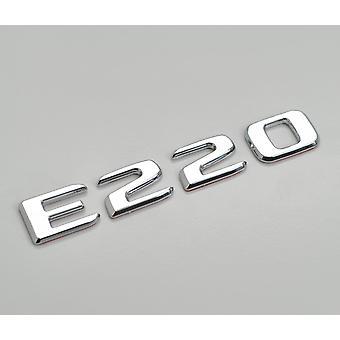 sølv krom E220 flat Mercedes Benz bil modell bakre støvel nummer brev klistremerke merket emblem for E-klasse W210 W211 W212 C207/A207 W213 AMG