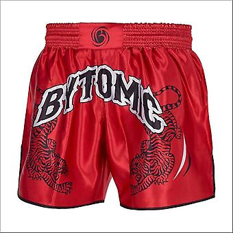 Bytomic twin tiger muay thai shorts red/black/white