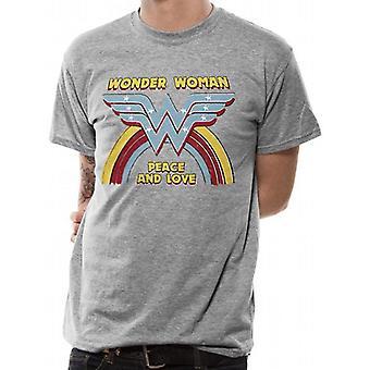 Mulher Maravilha Unsex Adultos Rainbow Vintage Design T-Shirt
