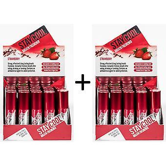 50-pack Munspray Stay Cool Breath Freshener Strawberry Jordgubb