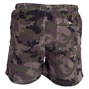Tom Franks Mens Camo Printed Swim Shorts